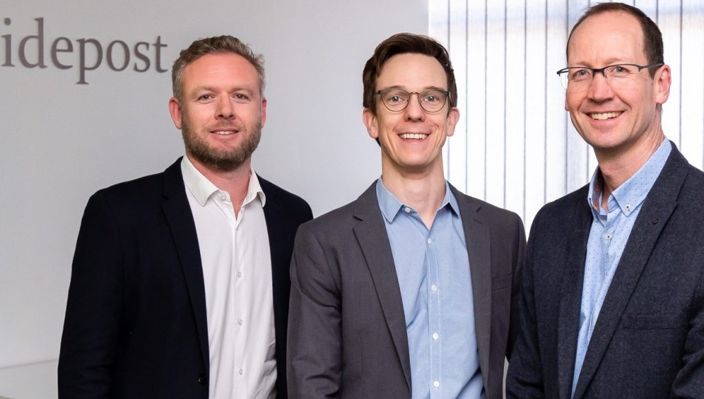 Supplied: Guidepost Founders L-R Graham Rowe, Richard Johnson, Prof. David Segal