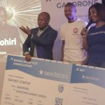 Featured image: Mohiri co-founder Thato Kasongo (middle) collecting the prize at Seedstars Gaborone with Seedspace Cape Town community manager Lorraine Davis (right) (Botswana Innovation Hub via Facebook)