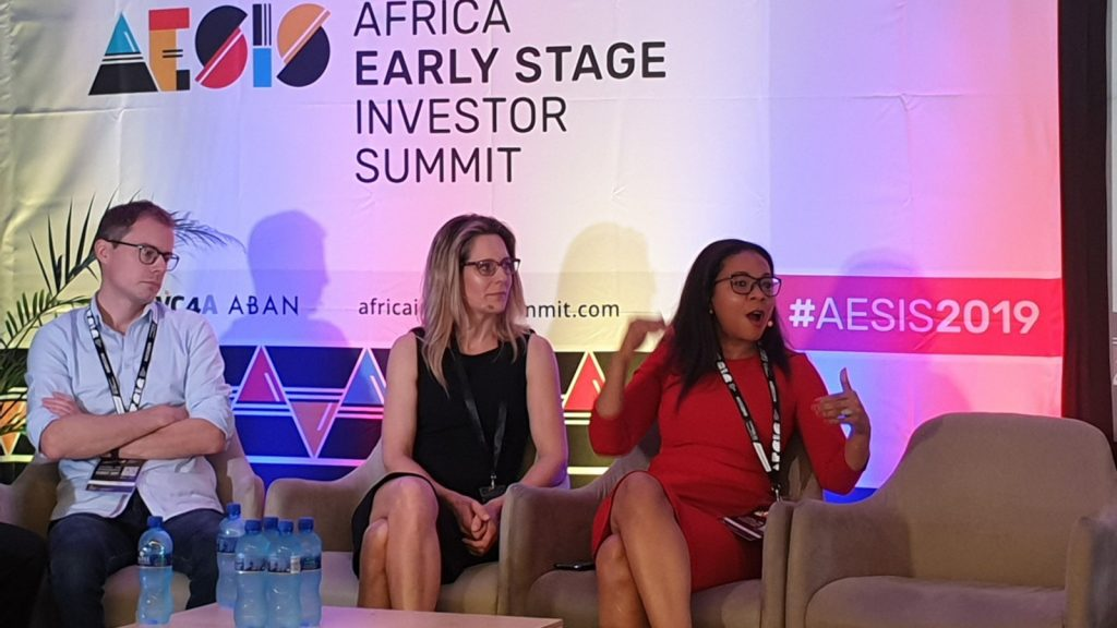 Featured image, left to right:Proparco's Johann Choux, Naspers' Louise Stuart and Africa Business Angel Network's and Cameroon Angel's Rebecca Enonchong (VC4A )