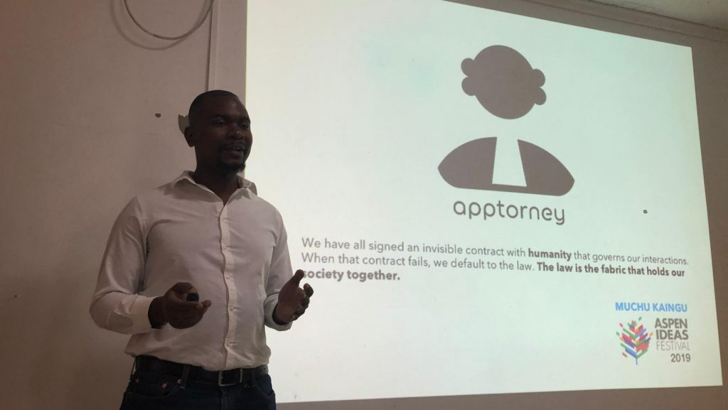 Featured image: Apptorney co-founder Muchu Kaingu pitching at Seedstars Lusaka (Seedstars via Twitter)