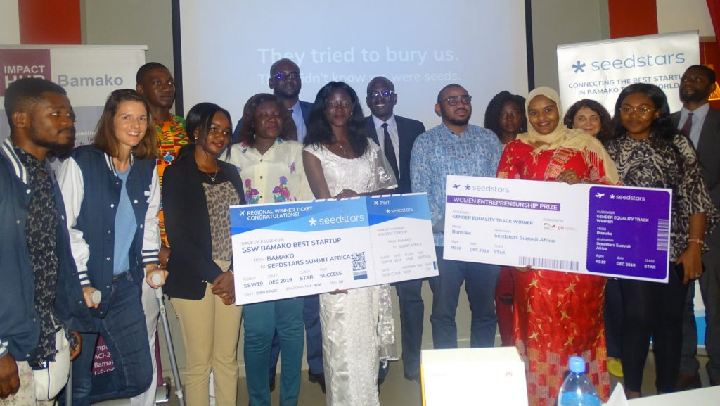 Featured image: Winners and participants at Seedstars Bamako 2019 (Impact Hub Bamako via Twitter)