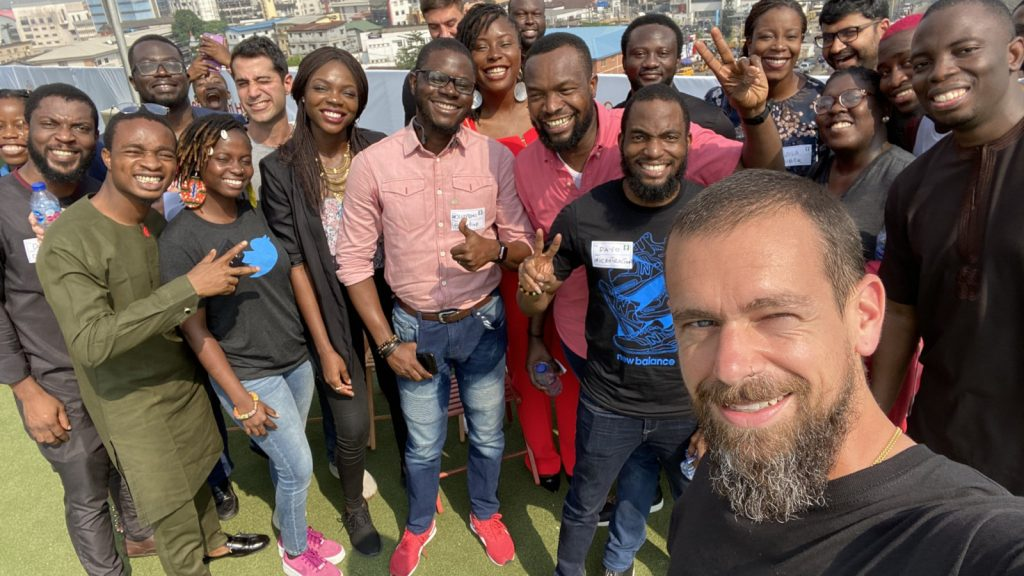 Featured image: Twitter co-founder and CEO Jack Dorsey at Co-Creation Hub last week ( Jack via Twitter)