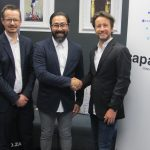 Featured image, left to right: Capaci.Tech's Jaco de Wet, GotBot co-founder and CEO Nick Argyros and Capacitech founder Matthew Emanuel (Supplied)