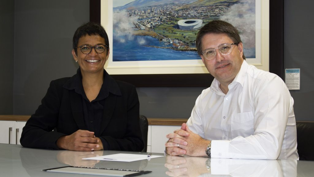 Featured image (left to right): Western Cape MEC for Economic Development and Tourism David Maynier with the department's deputy director-general Jo-Ann Johnston (Supplied)