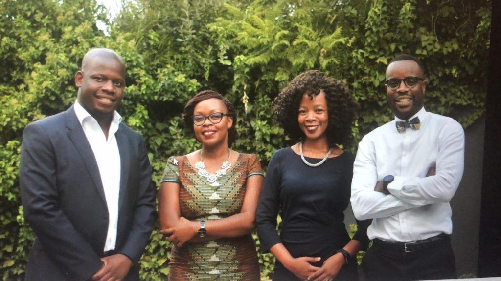 Supplied: L-R: Garikai Govati (CEO), Rhibhi Matinyi (CSO), Jessica Chivinge (COO) and Farai Chikumbu (CTO)