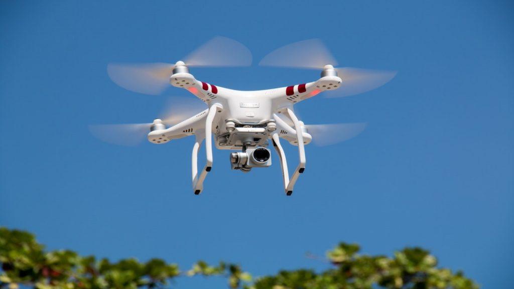 https://www.pexels.com/photo/drone-flying-against-blue-sky-336232/